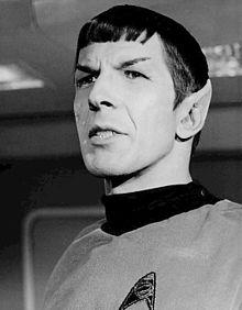 Leonard as Spock
